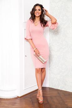Розовое коктейльное платье Angela Ricci со скидкой